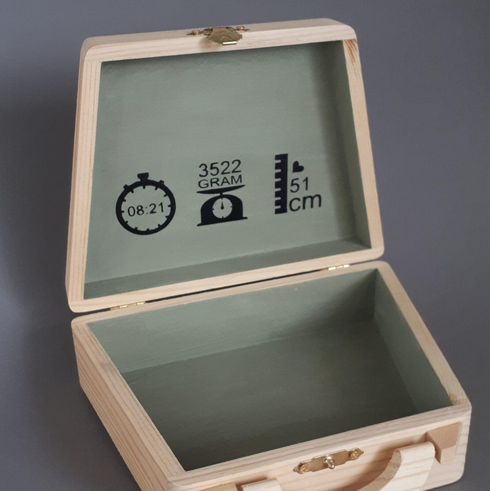 Geboortekoffertje hout